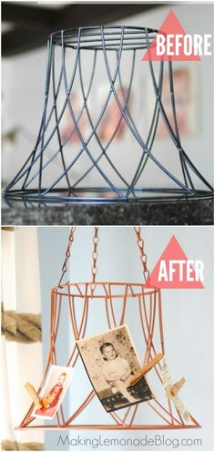 wire-basket-before-after wire basket to memo hanger- love!