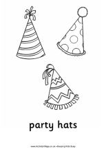 Happy Birthday Party Hat Coloring Pages . Happy Birthday Party Hat Coloring Pages