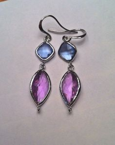 Purple+Marquise+Dangles+by+PacificAndKey+on+Etsy,+$20.00