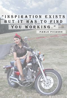 That`s me on my chopper, i hope you like it. Inspiration# work#vintage#pin up#makeup#yamaha#chopper#go for a ride#freedom <3
