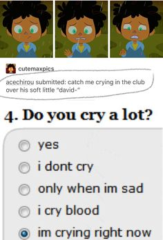 """Catch me crying in the club over his soft little """"David..."""""""