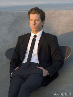 Professional snowboarder Shaun White doing a photoshoot in Venice Beach, California on July 23, 2013.