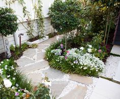 This picture-perfect courtyard garden is small in size but perfectly formed