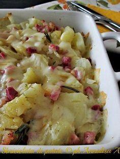 Un contorno semplicissimo la sbriciolata di patate con la pancetta e la provola affumicata per cambiare l'uso della patata in cucina Ricetta La cucina di ASI