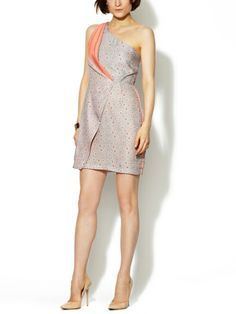 Draped One-Shoulder Wrap Dress by Gemma Crus on sale now on Gilt.