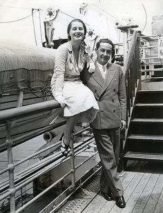 Norma Shearer and Irving Thalberg by le beau monde