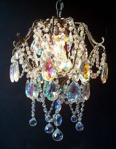 Exquisite Jeweled Antique Crystal Basket by sheriscrystals on Etsy, $474.95