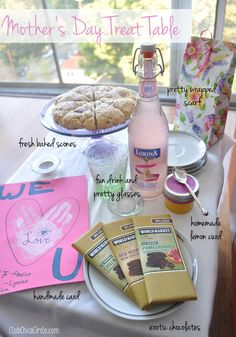 Mom Spa Day Treat Table set up with Cost Plus World Market ~ Club Chica Circle >> #WorldMarket Mother's Day