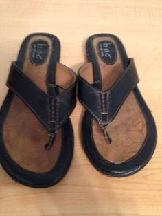 Born Sz 6 Thong Sandals LEATHER  Brown Slip Ons  #Born #ThongsSlides #Casual