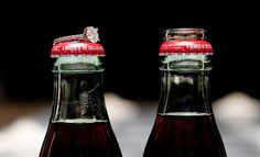 Rings on coke bottles.