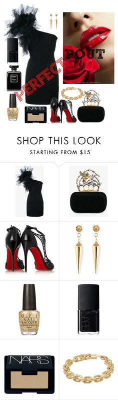 """""""Wedding guest"""" by shirlyn-n ❤ liked on Polyvore featuring beauty, Yves Saint Laurent, Alexander McQueen, Christian Louboutin, Sydney Evan, OPI, NARS Cosmetics and Calvin Klein"""