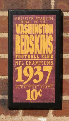 Washington Redskins Vintage Style Wall Plaque