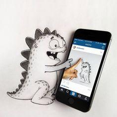Les aventures du dragon Drogo par Manik et Ratan Dessein de dessin