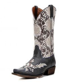 Men's Folsom Snake Print Cowboy Boot – Dark Blue