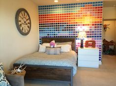 Pantone fan Michael Kovach added some color to his bedroom with Pantone paint chips from Lowes! We love seeing how color inspires our fans.