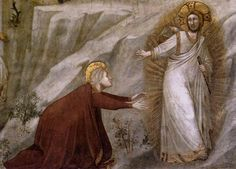 Giotto di Bondone - Scenes from the Life of Mary Magdalene - Noli me tangere (detail) - WGA09106 - Noli me tangere - Wikipedia, la enciclopedia libre