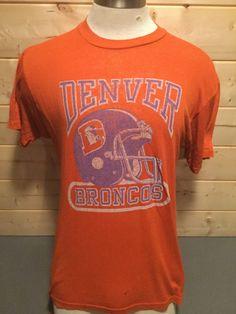 958f167ea Vintage 1980 s Denver Broncos Logo 7 50 50 Helmet T-Shirt by 413productions  on