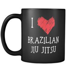 [product_style]-Brazilian Jiu Jitsu/BJJ I Love Brazilian Jiu Jitsu/BJJ 11oz Black Mug-Teelime