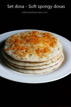 set dosa are soft spongy dosas made of dal & rice. Set dosa can be eaten with chutney or podi. Indian Beef Recipes, Goan Recipes, Herb Recipes, Tasty Vegetarian Recipes, Gourmet Recipes, Cooking Recipes, Masala Dosa Recipe, Delicious Restaurant, Indian Breakfast