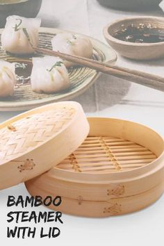 An asian bamboo steamer can be used to cook a variety of foods - dim sum, steaming rice, vegetables, fish and meat. The natural bamboo keeps nutrient and authentic Asian flavors in the food. Steamer Recipes, Fish And Meat, Steamed Rice, Asian Decor, Asian Cooking, Dim Sum, Organizer, A Food, Kitchen Decor