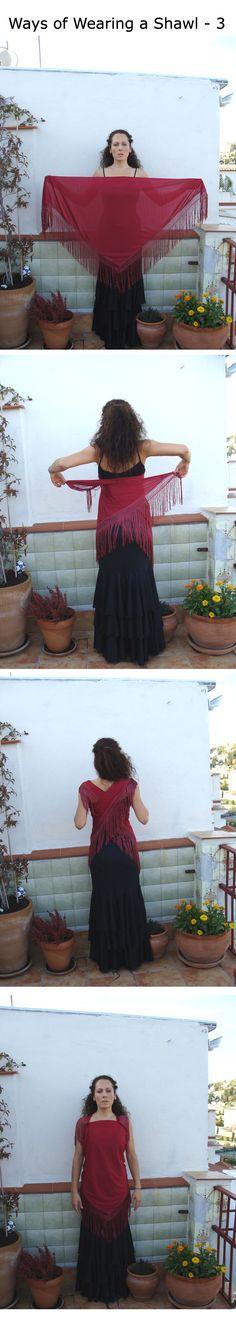 Ways to wear your Flamenco shawl (mantón) - part 3!