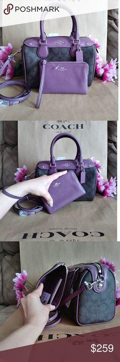 8bdd842585a4 NWT Coach crossbody purse bag w  wristlet set NWT Coach crossbody purse bag  Very elegant