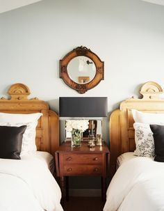 greige: interior design ideas and inspiration for the transitional home : Twins...Beautiful beds...