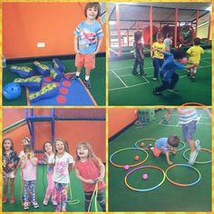 #Diadeportivo en #Chamburciandoando. Los niños la pasaron deli con bolos, ponchado, balones y muchísimo más.