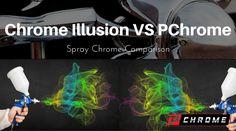 Chrome Illusion VS PChrome Spray Chrome Comparison