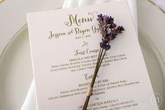 Reception Table Card Menu Thick Style - Wedding Day Stationery