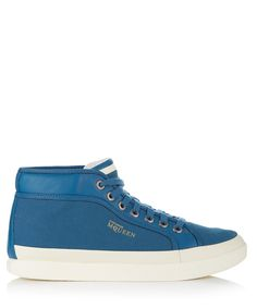 Rabble+blue+leather+mid+sneakers+by+PUMA+by+Alexander+McQueen+on+secretsales.com
