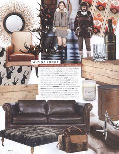 Design in Print│ belle magazine August 2013 featuring the Arthur G Barrington Sofa
