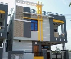 Independent Houses, आवासीय घर, रेजिडेंशियल हाउस in Hyderabad , Mega Vision House Front Wall Design, House Outer Design, Single Floor House Design, Village House Design, Unique House Design, Bungalow House Design, Bungalow Exterior, Modern Bungalow, 2bhk House Plan