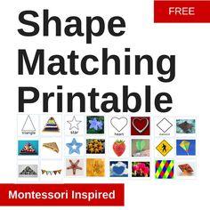 Shape Matching Printable
