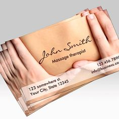 Customizable Massage Therapist Appointment Business Card