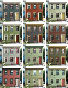 historic house paint color schemes