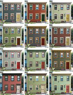 Historic house paint color schemes.