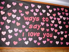 """Diversity Idea! Look up """"I love you"""" in different languages and put them on heart cut outs! #RA #bulletinboards"""