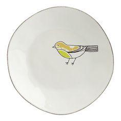 Chickadee Green Plate