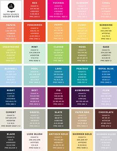 Chart pdf color pantone 2012