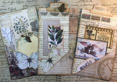 Hi all Vicki-Ann here today for the Helmar Creative team. I have been working on some Vintage style tabbed cards for a vintage journal that I want to make this year. I have been making all sorts of pockets and. Vintage Crafts, Vintage Paper, Journal Cards, Junk Journal, Atc Cards, Glue Crafts, Paper Crafts, Paper Toys, Handmade Journals