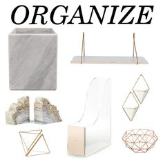 """""""Marble Organize 2017"""" by lilyheart4ever ❤ liked on Polyvore featuring interior, interiors, interior design, home, home decor, interior decorating, Philmore, Kate Spade, Umbra and Hübsch"""
