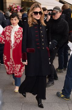 Olivia Palermo - Arrives at Schiapparelli Fashion Show in Paris 1/23/ 2017