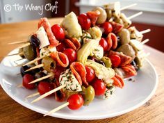 Antipasto Skewers: Impress your guests with this easy appetizer! | The Best Blog Recipes #appetizer #antipasto