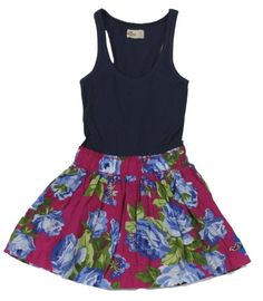 I HAVE THIS SKIRT Hollister Women's Floral Tank Dress (Navy/Pink « Clothing Adds for your desire