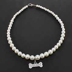 Dog Necklaces Spring/Fall - White Plastic 2016 – $4.09