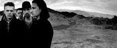 U2, Zabriske Point - Nevada, 1986 // photoshoot for the Joshua Tree album cover by Anton Corbijn