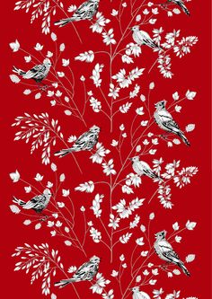 HomeDECORATE. FABRICS Tilhi (red) - By Matleena Issakainen VALLILA.fi