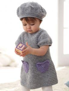 Rows o' Ruffles Dress | Yarn | Free Knitting Patterns | Crochet Patterns | Yarnspirations