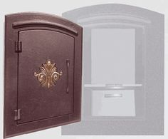 Locking Column Mailbox (scroll) Antique Copper (stucco column purchased seperately)